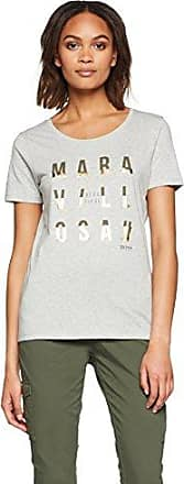 HUGO BOSS Taprinty, Camiseta Mujer, Plata (Silver 040), Medium