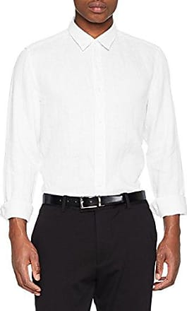 Elisha, Camisa Manga Larga para Hombre, Blanco (Open White 199), Medium HUGO BOSS