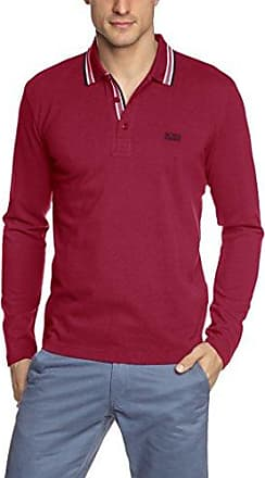 HUGO BOSS Boss Athleisure Plisy 10176253 01, T-Shirt Homme, (Dark Red 604), Medium
