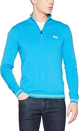 Vime_w17 10201728 01, Chaqueta Punto para Hombre, Azul (Open Blue 494), Medium HUGO BOSS
