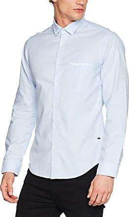 Elisha01, Camisa para Hombre, Azul (Navy 413), Small HUGO BOSS