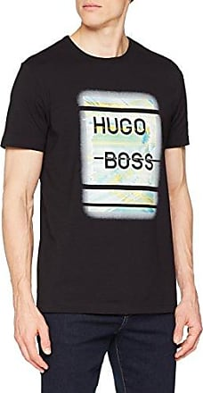 Depuso, Camiseta para Hombre, Negro (Black 001), Small HUGO BOSS