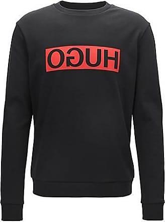 Berlin - Sweat-shirt ras de cou en polaire avec logo - Noir - NoirHUGO BOSS Orange 100% D'origine faux Collections Livraison Gratuite bJIH18zGd