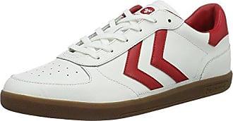 Unisex Adults Pernfors Power Play Low-Top Sneakers, Wei?/Hellgrau Hummel