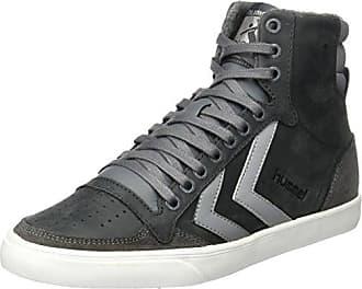 Hummel Slimmer Stadil High - Sneaker a collo alto Unisex Adulto, Grigio (Castle Rock/White Kh 2651), 44 EU