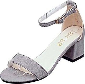 Frühling Frauen Mode flachem Absatz Schuhe Casual Frauen Schuhe Spitze Schuhe (38, Gray) Hunpta