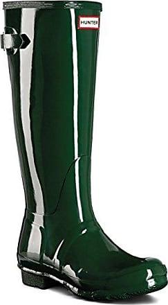 Damen Hunter Original Adjustable Back Gloss Schnee Gummistiefel Stiefel - Grün - 39 IuBIkjIeDL