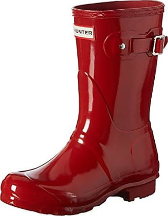 Hunters Original Short Gloss W23700, Damen Stiefel, Rot (Pillar Box Red), EU 37 (US 4)