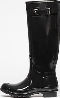 Hunter Original Tall Gloss, Damen Kurzschaft Gummistiefel, Schwarz (Black), 37 EU