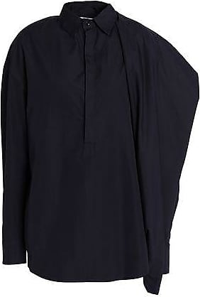 Chalayan Woman Flared Cotton-poplin Shirt Midnight Blue Size 42 Hussein Chalayan Collections Clearance Online Fake Discount Popular Buy Cheap Low Shipping Discount Official Site Ymx9WaRmv