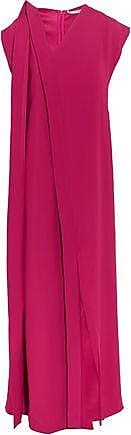 Chalayan Woman Cape-back Crepe Dress Claret Size 42 Hussein Chalayan E775uh9BbD