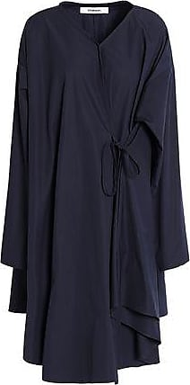 Sale Ebay New Cheap Online Chalayan Woman Flared Draped Cotton-poplin Shirt Dress Midnight Blue Size 42 Hussein Chalayan Discount Shopping Online xwZpkAEH
