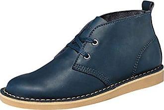 Leder Desert Boots Stiefeletten Schnürschuhe Wildleder schuhe Blau, Beige, Braun & Schwarz, Schuhgröße:42;Frabe:Dunkelblau