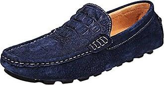 Herren Schuhe Snap Casual Rindsleder Schlupfschuhe, Braun - Braun - Größe: 41.5 Minitoo