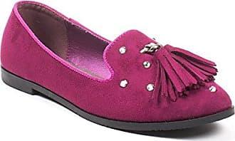 SNUGRUGS Damen/Damen Leder/Wildleder Sommer Slip auf/Ballett/Pumpen/Wohnungen/Schuhe, Pink - Rose - Größe: 42