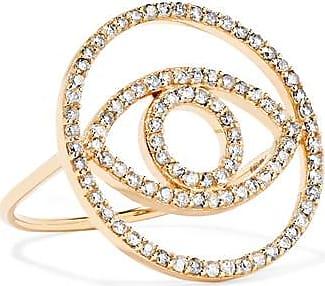 Ileana Makri Ileana Makri Woman Mini Snake 18-karat White Gold, Diamond And Tsavorite Ring White Gold Size 5.5