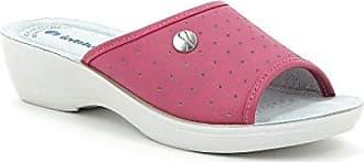 Damen Hausschuhe, rosa - Fuxia (Love) - Größe: 43 EU Inblu