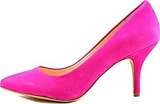 SHOWHOW Damen Metall Nubuk Stiletto High Heels Pumps Pink 35 EU 5FyN7SMO6