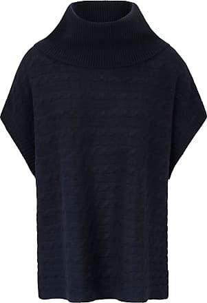Poncho-Pullover aus 100% Kaschmir include blau include