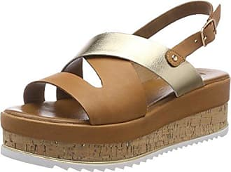 Inuovo 8977, Sandales Bout Ouvert Femme, Beige (Coconut-Gold 16780425), 36 EU