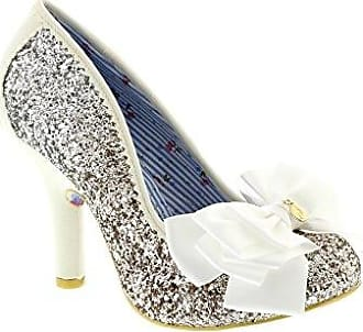 Ascot, Escarpins Bout fermé Femme - Argent (Silver/Gold), 42 (8 UK)Irregular Choice