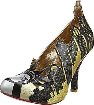 Bubbles Gum - Zapatos de Tacón Mujer, Color Plata, Talla 39 Irregular Choice