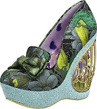 Zapatos de tacn con Punta Cerrada de Material Sintético Mujer, Color Morado, Talla 39 Irregular Choice