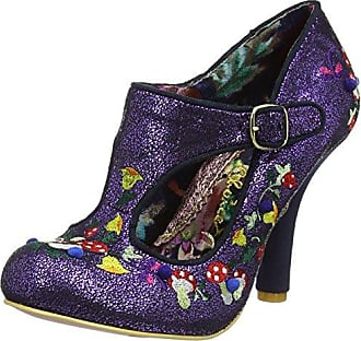 Irregular Choice - Zapatos de Tacón con Punta Cerrada de Sintético Mujer, Color Rojo, Talla 37