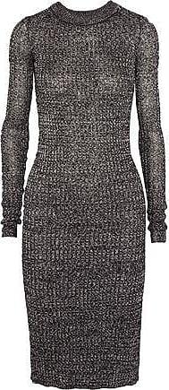 Isabel Marant Woman Marled Stretch-knit Midi Dress Black Size 40 Isabel Marant 73Sb1L