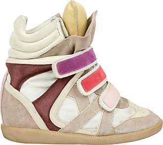 Isabel Marant Sneaker Donna In Saldo, Ecru, Pelle di Vitello, 2017, 35 38
