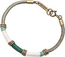 Isabel Marant Sahara Bracelet in Checkered & Plaid,Blue,White,Metallics