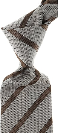 Ties On Sale, Taupe Brown, Silk, 2017, one size Isaia