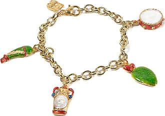 Bracelet for Women, Pistachio, Silver 925 Galvanized Gold, 2017, One Size Isola Bella Gioielli