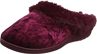 Isotoner Crushed Velour Ballet Slippers, Zapatillas Bajas para Mujer, Rosa (Berry), 38 EU