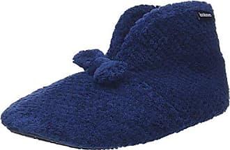 98972, Chaussons Femme - Bleu - Bleu (Navy NAV), 37/38Isotoner