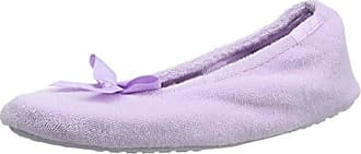 Isotoner Velour Ballet W Pom, Zapatillas Bajas Para Mujer, Morado (Purple), 37/38 EU