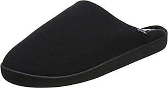 WomenSecret Open Shower Slippers, Zapatillas de Estar por Casa con Talón Abierto para Mujer, Negro (Black), 38 EU Women'secret