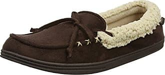 Suedette Moccasin Slippers, Chaussons Homme, Marron (Tan), 43/44 EUIsotoner