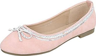 Ital-Design Ballerinas Damen-Schuhe Geschlossen Blockabsatz Moderne Ballerinas Coral Rot, Gr 36, 6256-Bl-