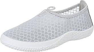 Damen Schuhe, BL221, Halbschuhe, Slipper, Synthetik, Grau, Gr 38 Ital-Design