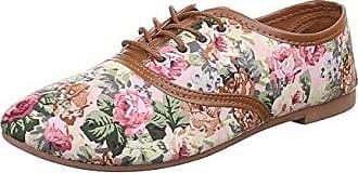 Damen Schuhe, C27-20-1, Halbschuhe, Schnürer, Textil, Rosa Multi, Gr 40 Ital-Design