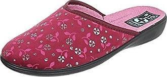 Ital-Design Hausschuhe Damen-Schuhe Pantoffeln Pantoffel Freizeitschuhe Rot Multi, Gr 38, 22369-