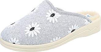 Ital-Design Hausschuhe Damen-Schuhe Pantoffeln Warm Gefütterte Freizeitschuhe Dunkelbraun, Gr 37, 22488-