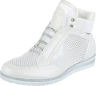 Ital-Design High-Top Sneaker Damen-Schuhe High-Top Sneakers Freizeitschuhe Grau, Gr 40, X-28-