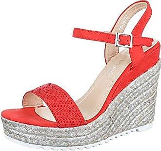 Ecco Damen Touch Sandal Offene Keilabsatz, Rot (1466CHILI Red), 40 EU