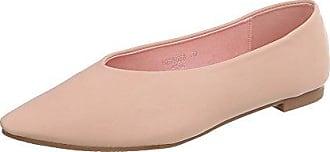 Ital-Design Klassische Ballerinas Damen-Schuhe Blockabsatz Perforierte Altrosa, Gr 38, 127-25-