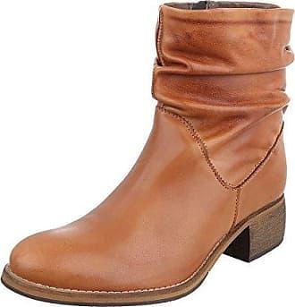 Damen Schuhe, 5854, Boots, Warm Gefütterte Wildleder Stiefeletten, Wildleder, Camel, Gr 39
