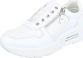 Low-Top Sneaker Damen-Schuhe Low-Top Keilabsatz Wedge Sneakers Schnürsenkel  Freizeitschuhe 409f30973f