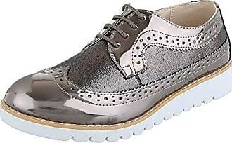 Schnürer Damen-Schuhe Oxford Schnürer Schnürsenkel Halbschuhe Silber Grau,  Gr 41, 62021 Ital a7987e570a