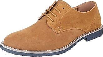 Schnürschuhe Herren Schuhe Oxford Blockabsatz Moderne Schnürsenkel Ital-Design Halbschuhe Camel, Gr 45, 62008-
